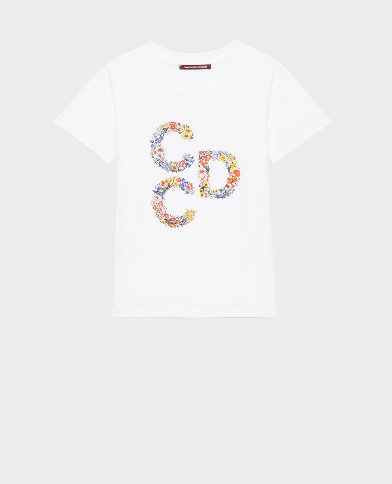 T-Shirt aus Baumwolle mit kurzen Ärmeln Brilliant white Mae