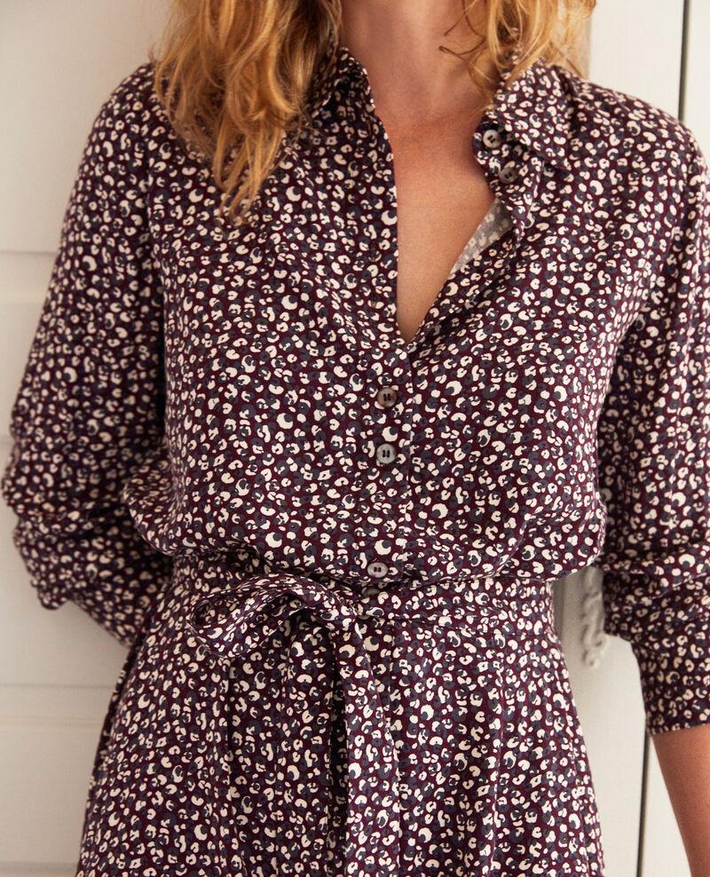 Gemustertes Kleid Leopard potent purple Joleil