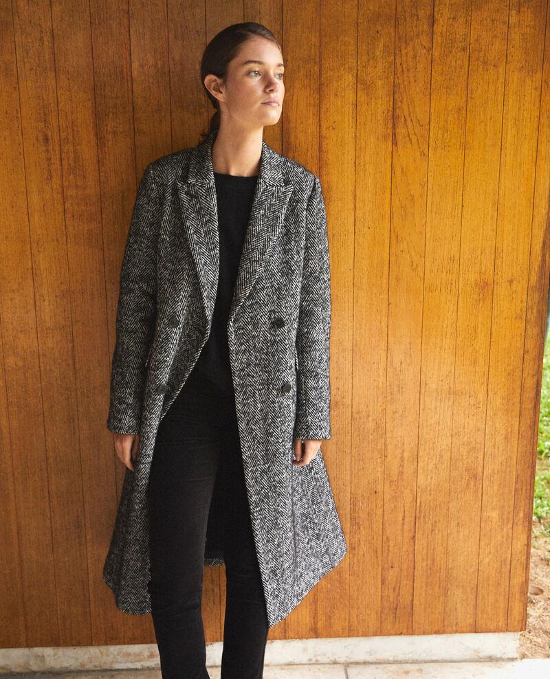 Zeitloser Tailoring-Mantel Schwarz Gurguy