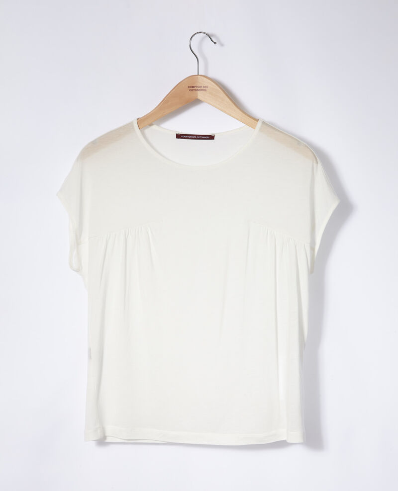 T-Shirt mit Rundhalsausschnitt Weiß Gaillet