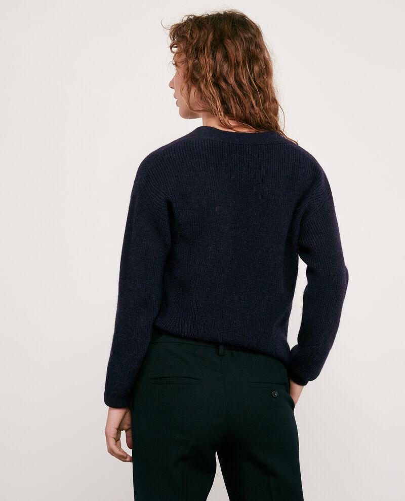 Pullover aus Wolle und Alpaka Navy Darren