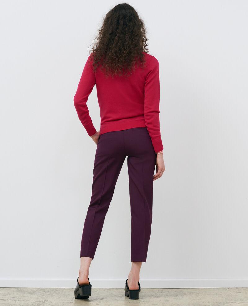 Pullover mit Rundhalsausschnitt aus Merinowolle Persian red Passy