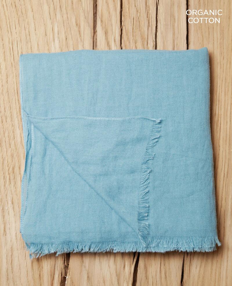 Tuch aus Organic Baumwolle Blau Geste