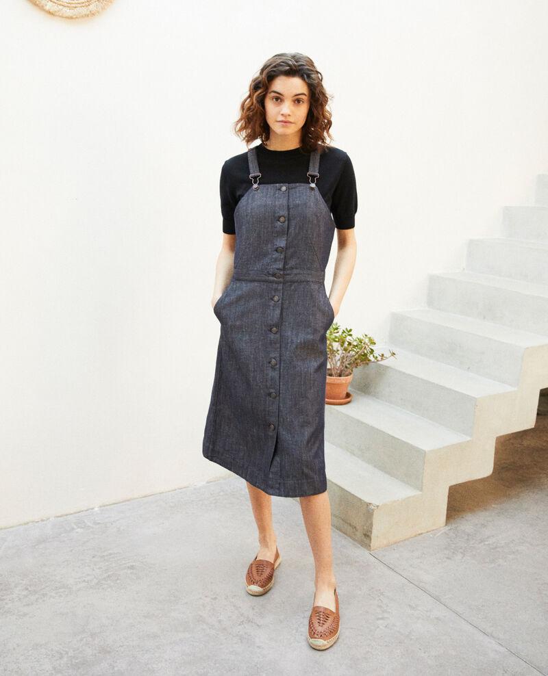 Latzkleid aus Jeans Indigo Ibetta