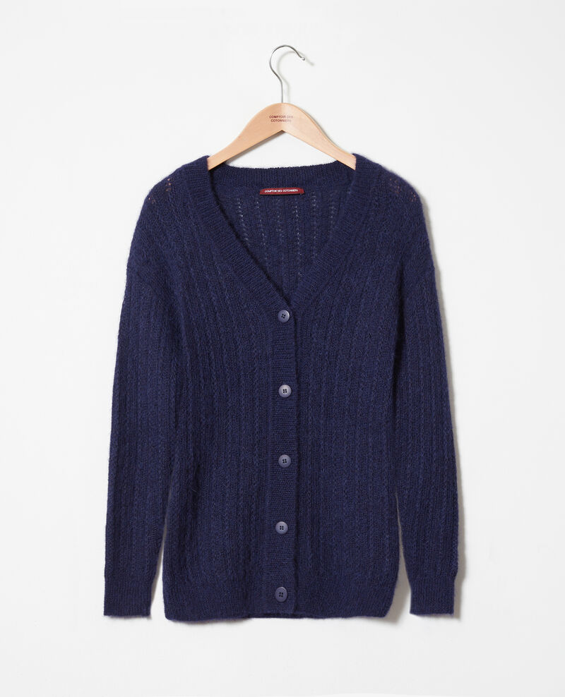 Cardigan aus Zierstrick Evening blue Jaro