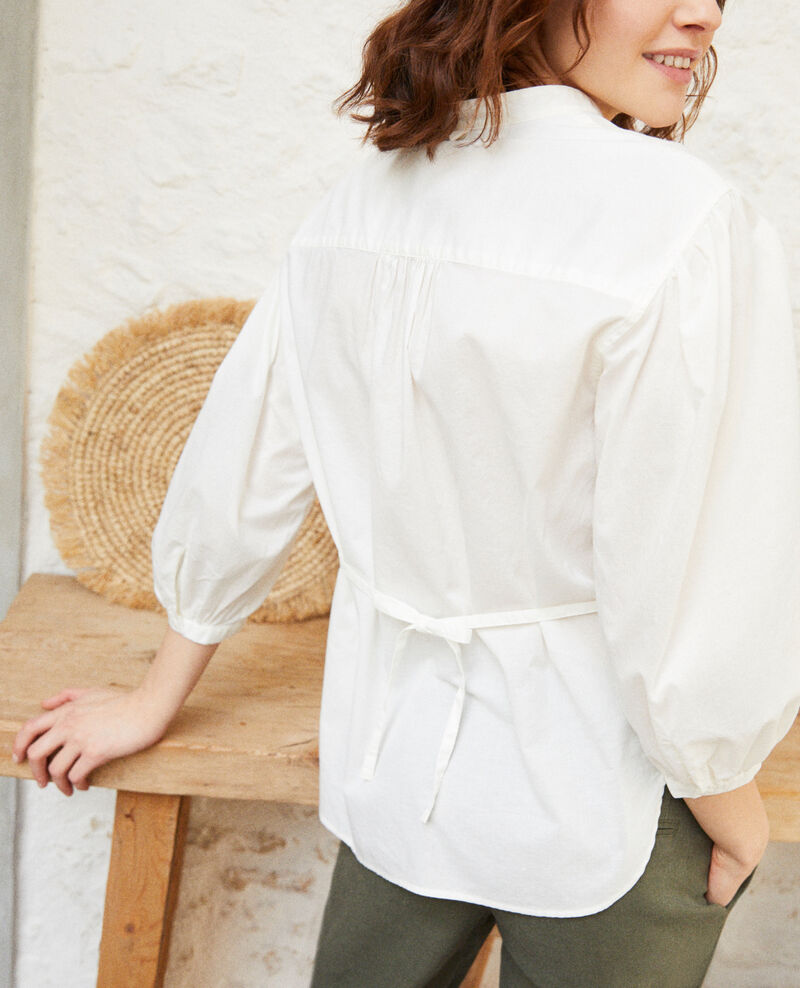 Bluse mit Plastron Blanc Itape