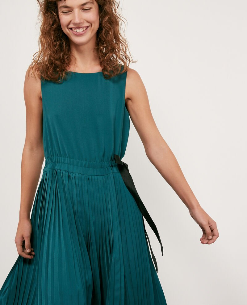 Kleid mit Plissee-Falten Light deep green Dosoleil