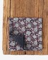 Bedrucktes Tuch mit Seide Darjeeling black Fifrelin