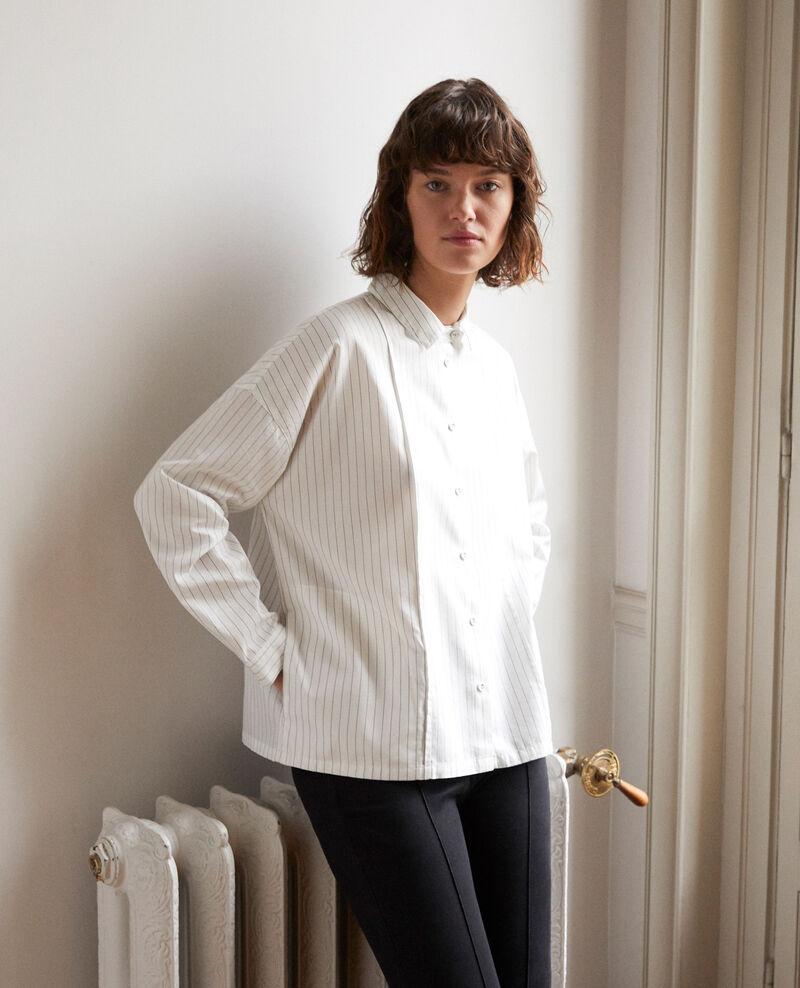Gerade geschnittene Bluse Weiß Goran