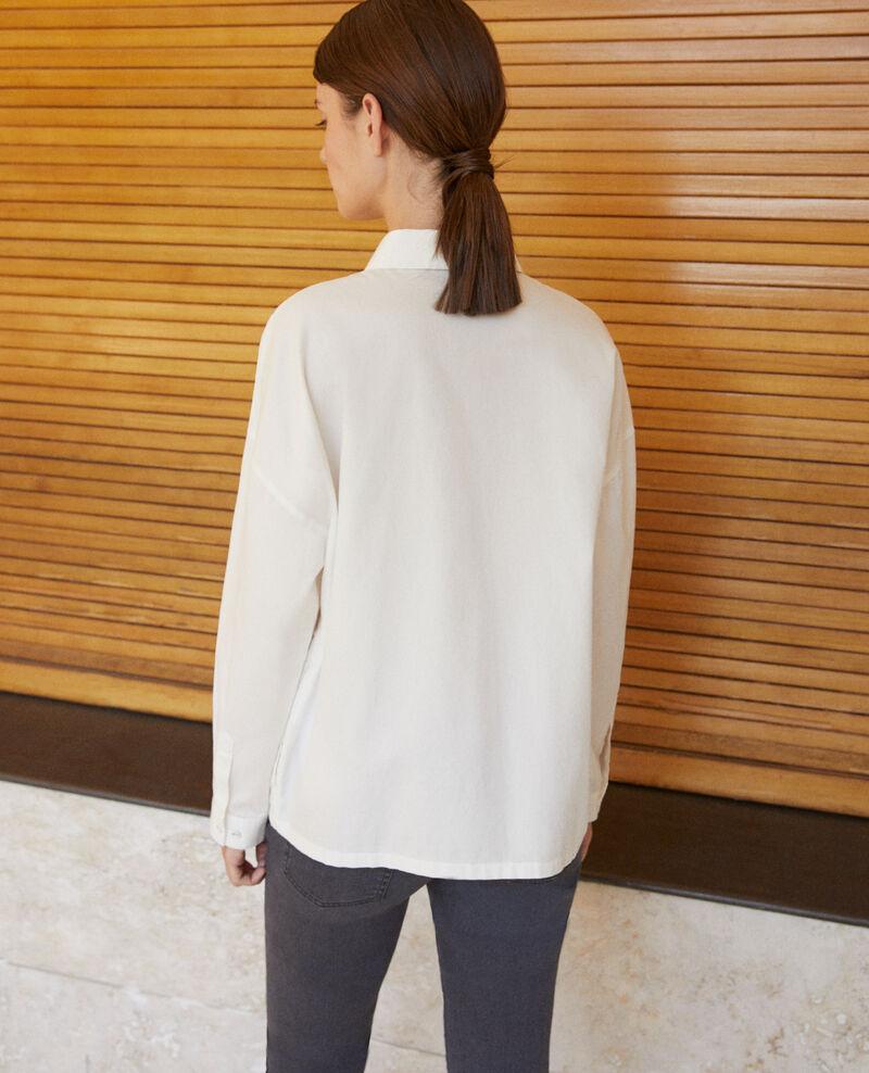 Gerade geschnittene Bluse Weiß Gorani
