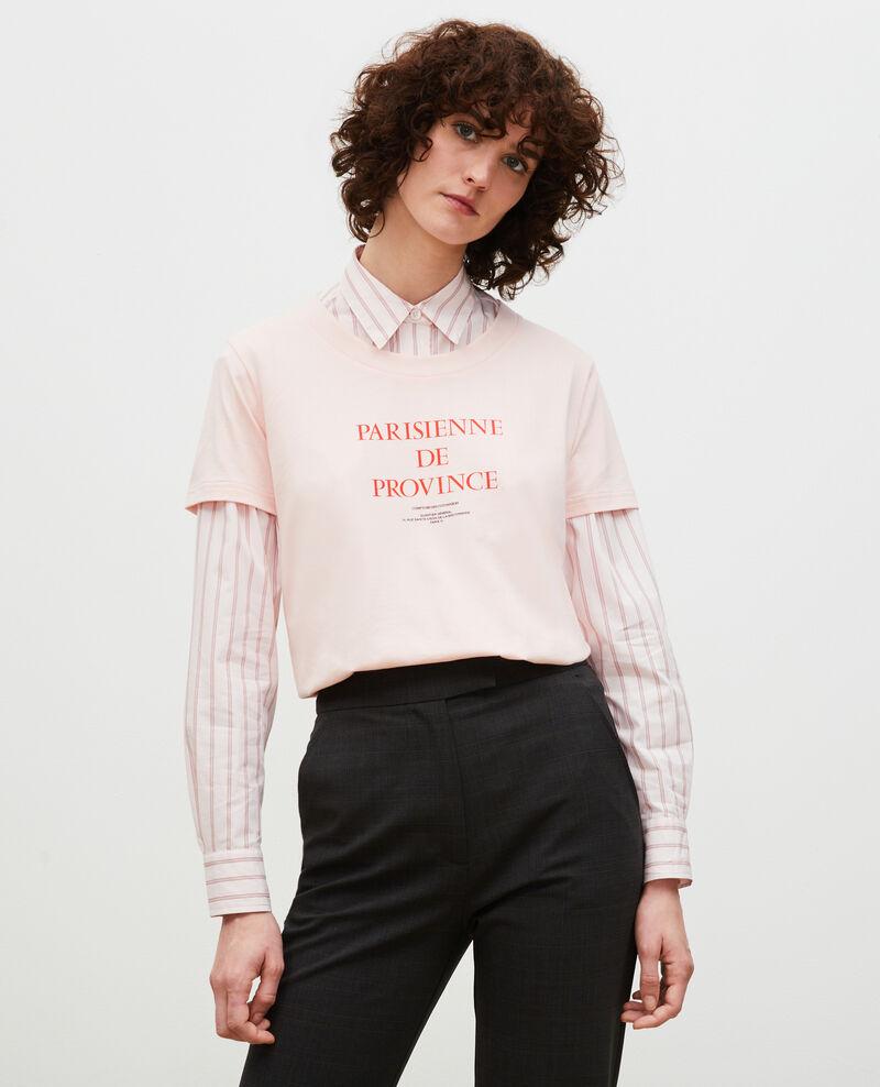 T-Shirt aus Baumwolle mit kurzen Ärmeln Seashell pink Mara