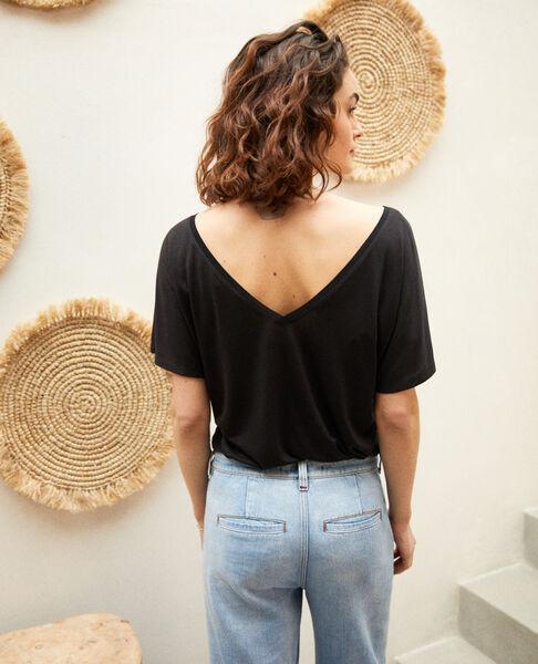 Comptoir des Cotonniers - t-shirt col v dans le dos - 3
