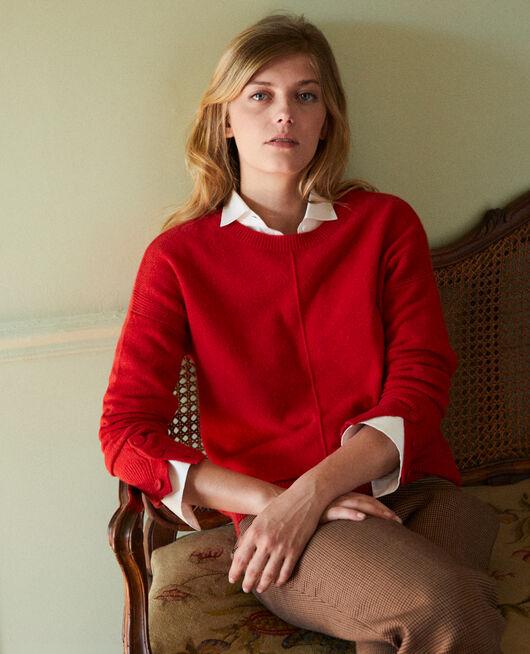 Pullover mit Knöpfen an den Ärmeln 100 % Kaschmir MOLTEN LAVA