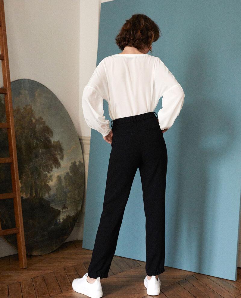 Hose im Anzugstil Schwarz Girl