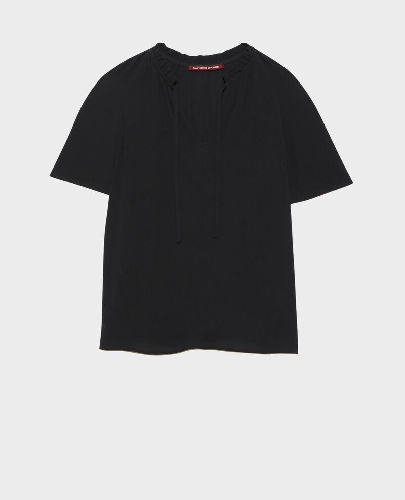 Bluse mit kurzen Ärmeln Black beauty Nalella