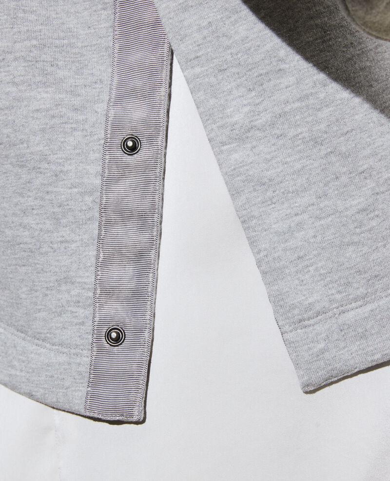 Sweatshirt mit Stehkragen Gris chine Pexone