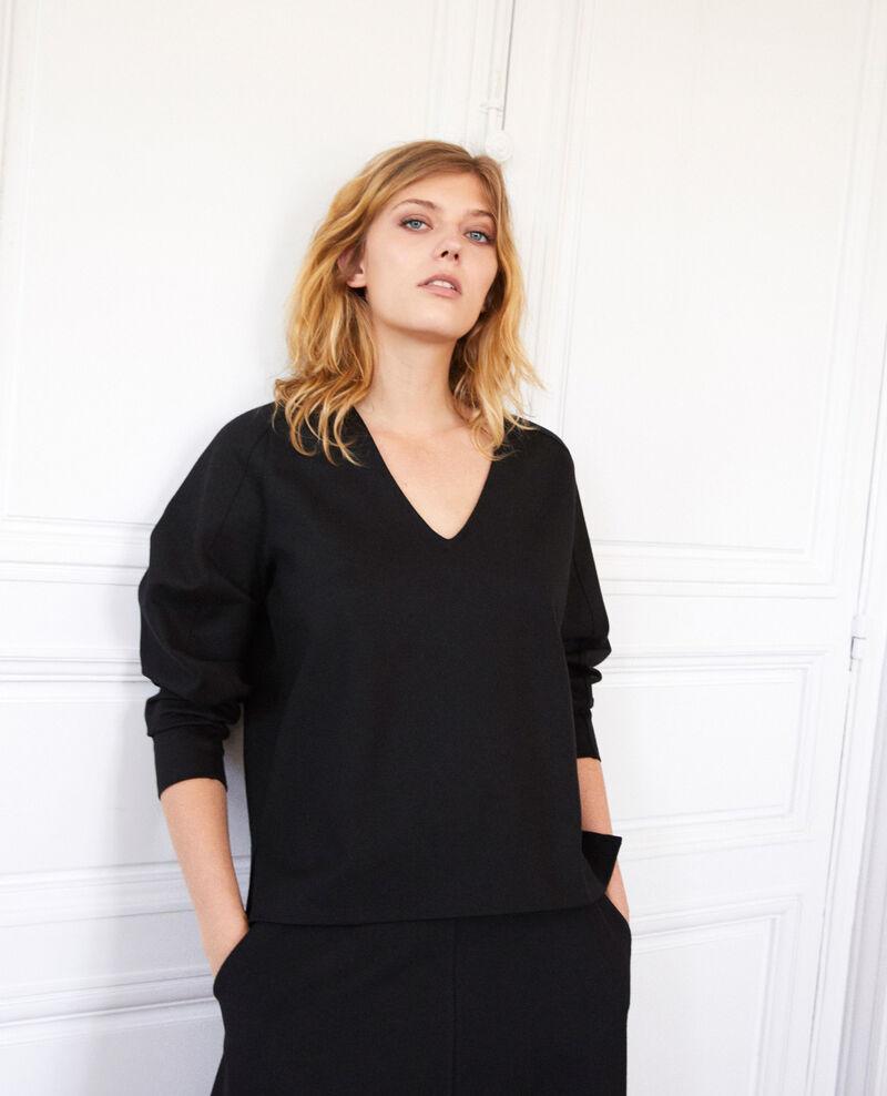 Langärmliges T-Shirt Noir Jitopi