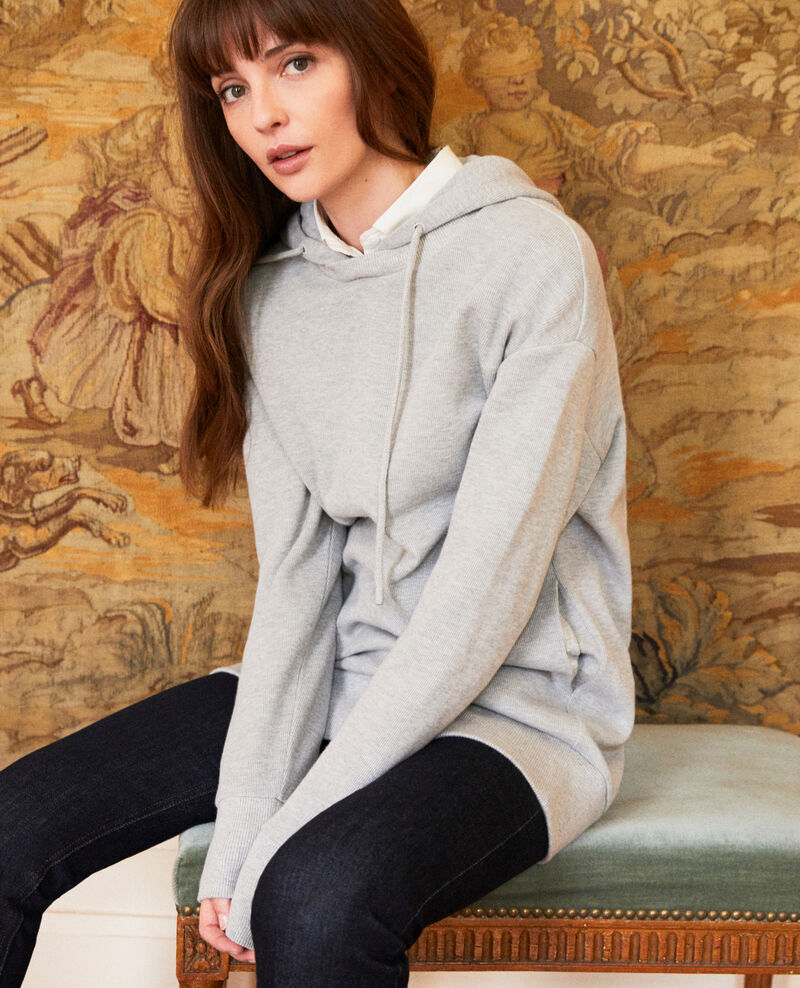Kapuzen-Sweatshirt Light grey Jasette