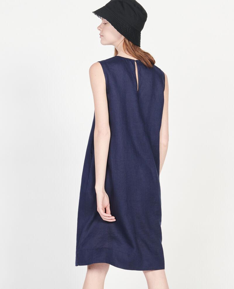 Kleid aus 100 % Leinen Maritime blue Lux