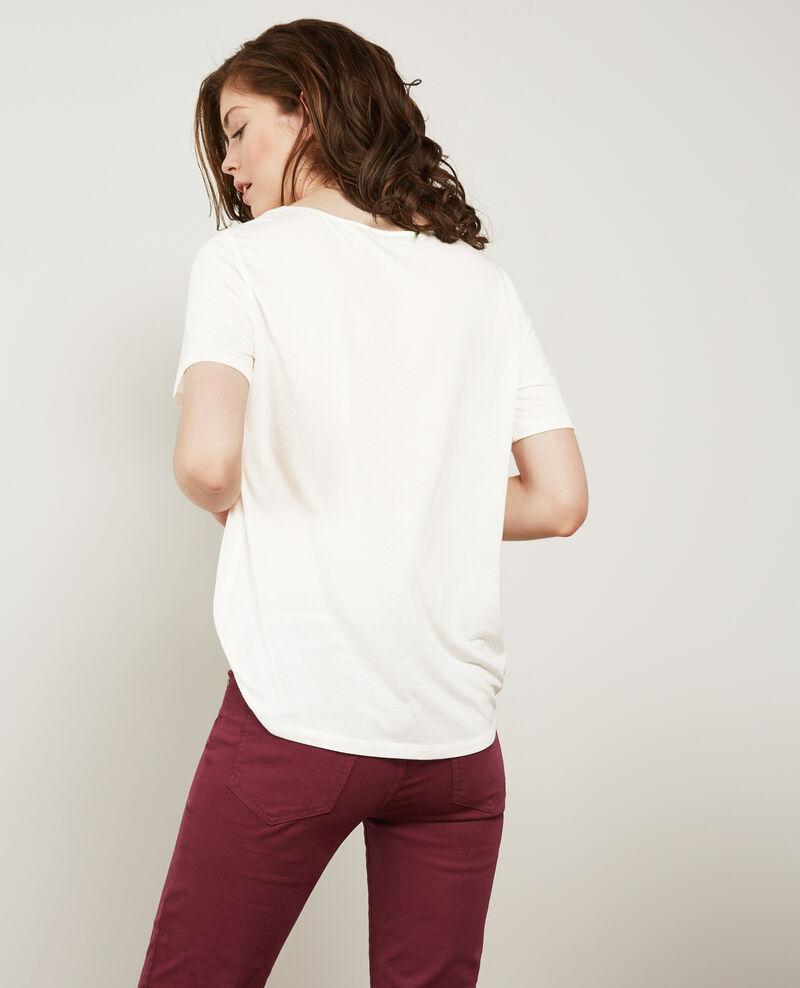 Bimaterial-T-Shirt mit Seide Off white Dupalais