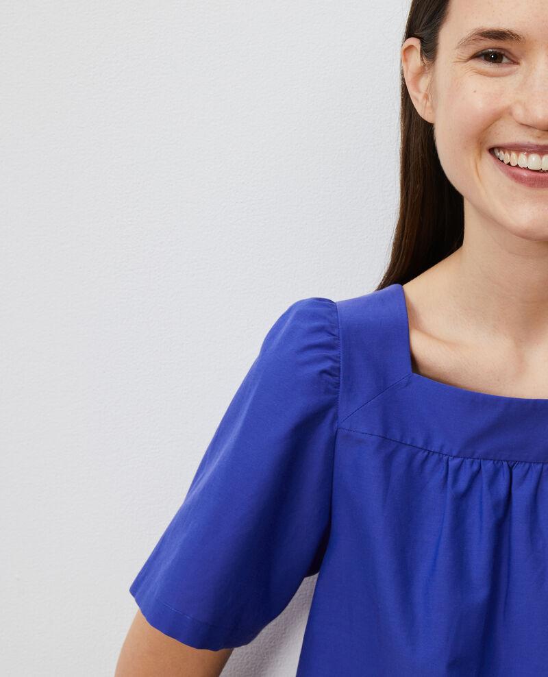 Oberteil aus Baumwolle und Seide. Royal blue Nondo