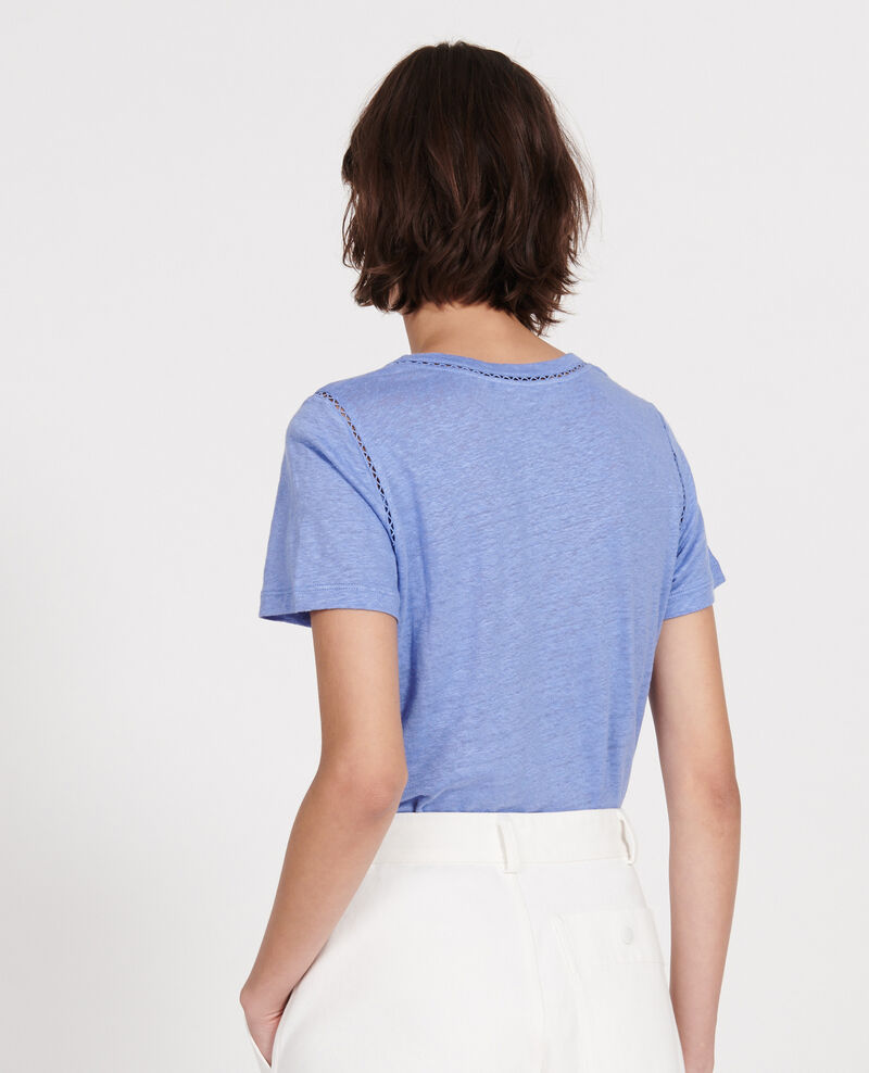 T-Shirt aus Jersey-Leinen Persian jewel Lye