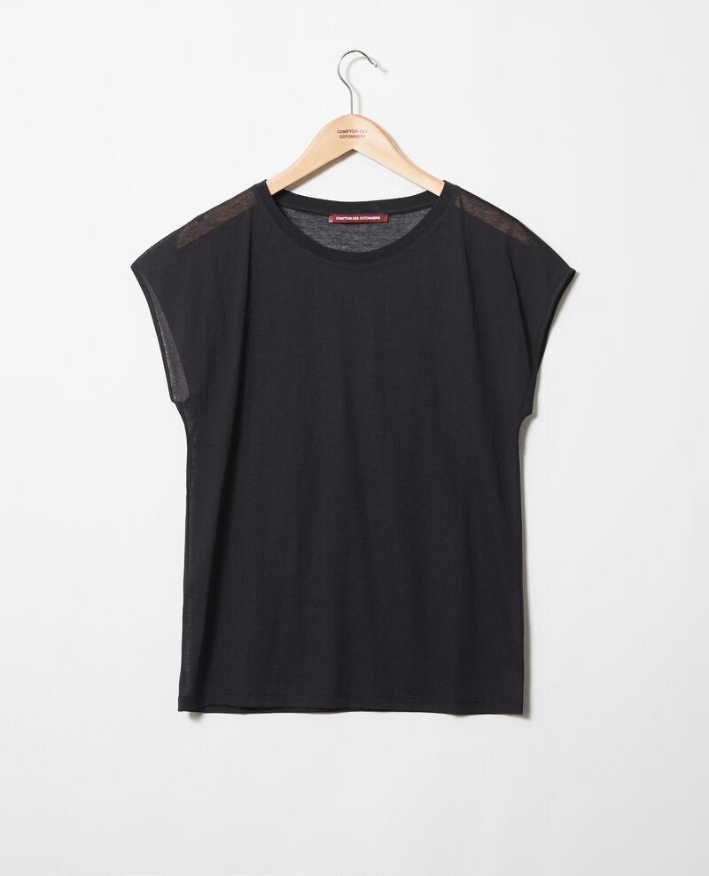 T-shirt intemporel Noir Idele