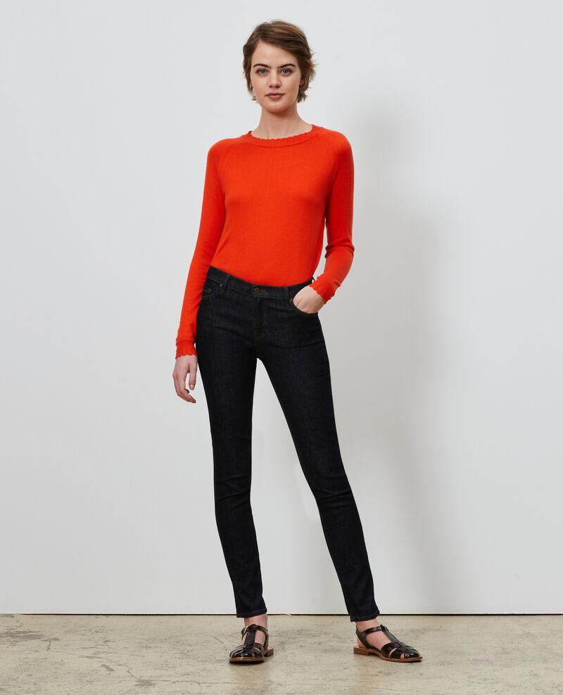 Pullover aus Baumwolle und Seide Spicy orange Nita