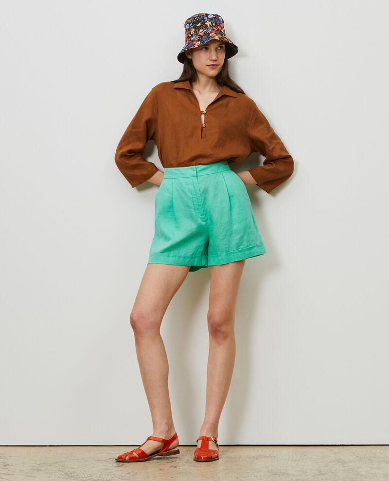 Kurze Shorts aus Leinen Jade cream Navillien