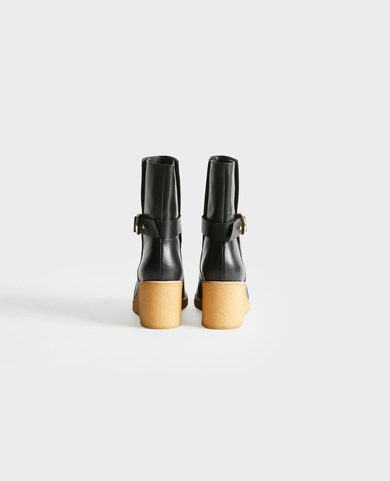 Lederstiefeletten mit Keilabsatz Black beauty Perignylarose