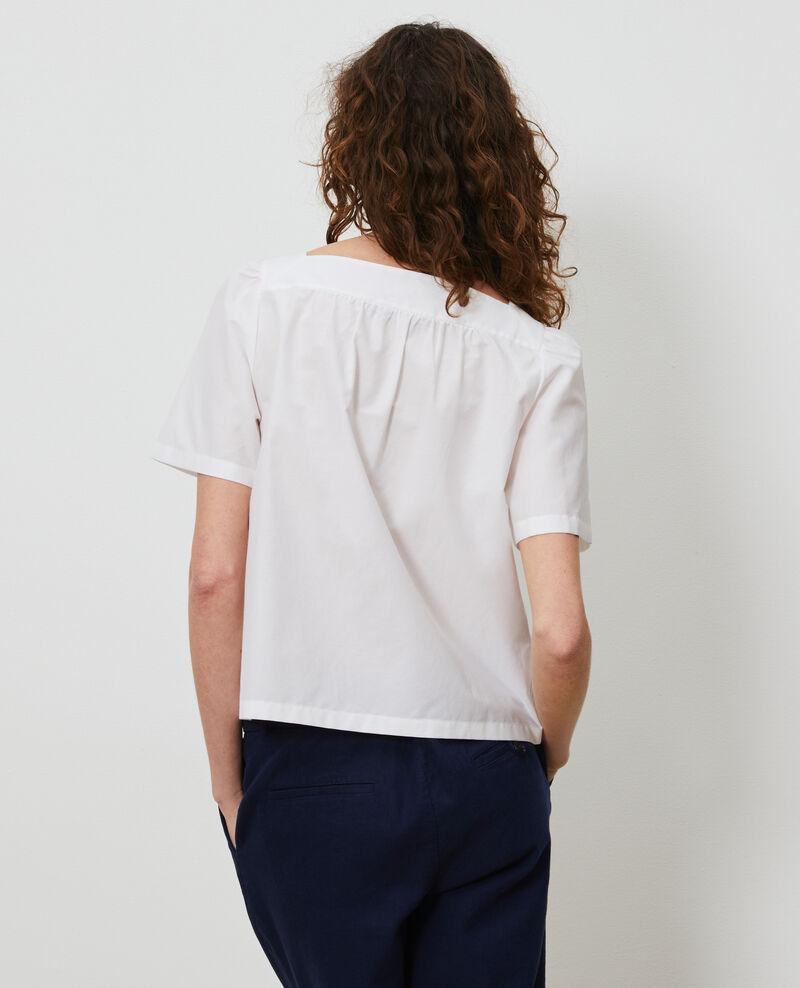 Oberteil aus Baumwolle und Seide. Brilliant white Nondo