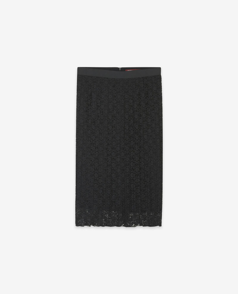 Spitzen-Plisseerock Noir Dohio