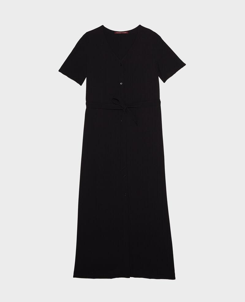 Langes Kleid aus Viskose-Krepp Black beauty Lavish