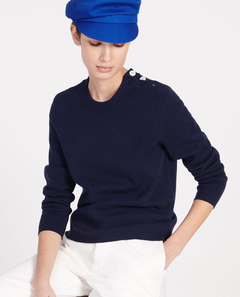 Zeitloser Wollpullover Maritime blue Logan