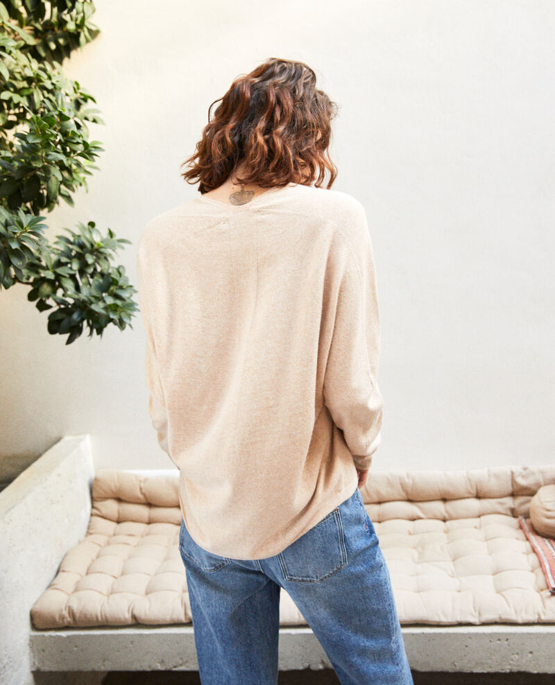 Pullover mit Kaschmir Sand beige Iopy