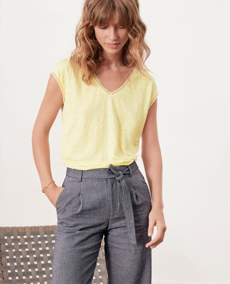 T-Shirt aus Leinen Lemonade Fevian