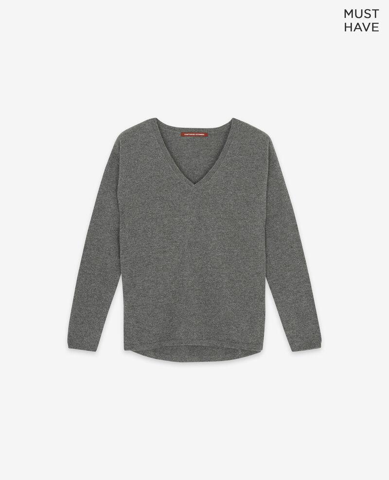 Reiner Kaschmir-Pullover Dark heather grey Dudoux