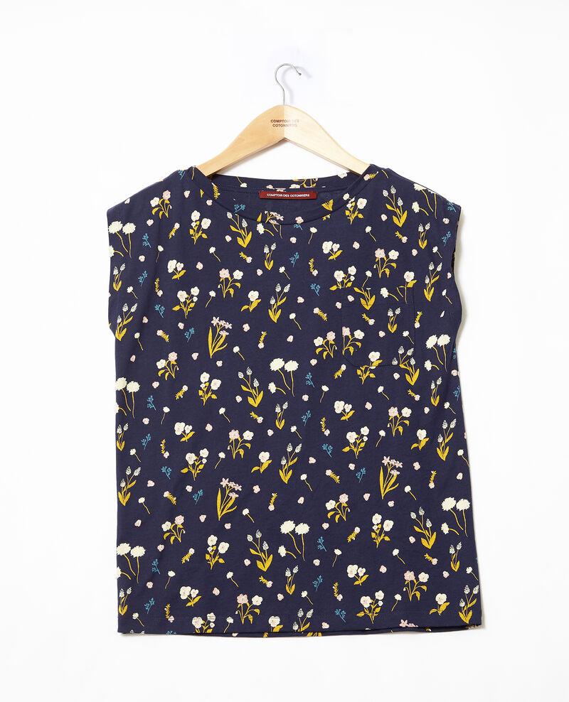 T-Shirt aus Baumwolle  Blau Ginolita