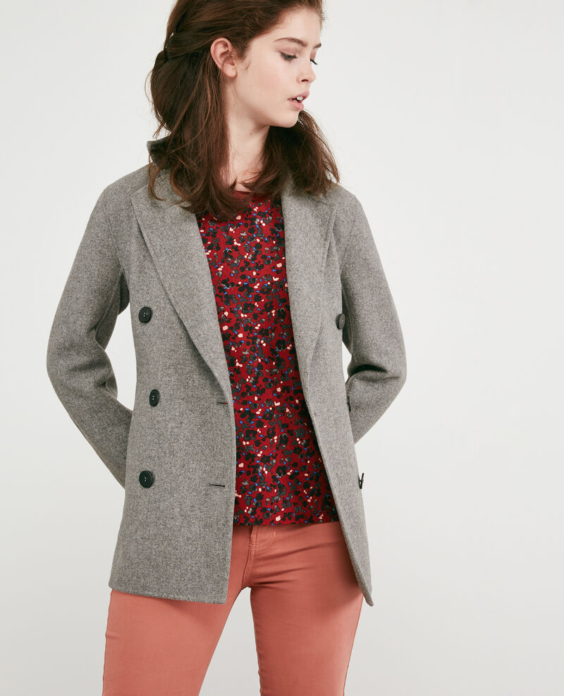 Jacke mit Wolle Medium heather grey 9darabie