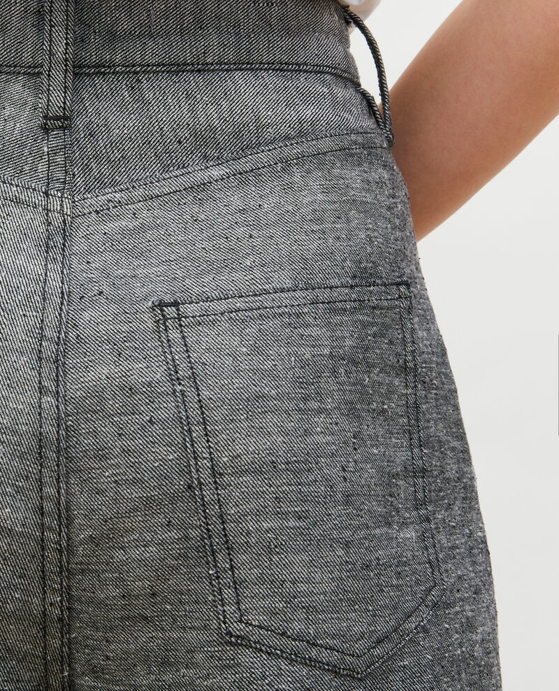 PLEATED - Weite Hose aus grauem Denim Grey wash Maples