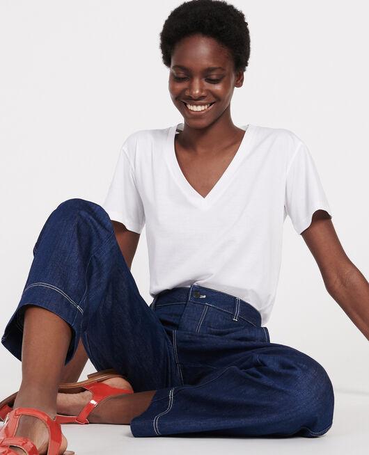 T-Shirt aus Baumwolle OPTICAL WHITE