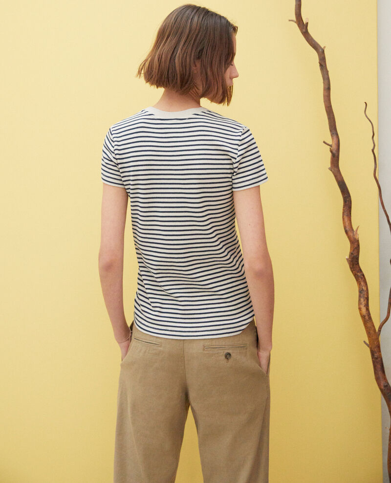 Matrosen-T-Shirt Beige/navy Ivea