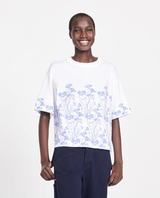T-Shirt mit Blumenmuster aus Baumwolle EMPREINTE GARDENIA JEWEL