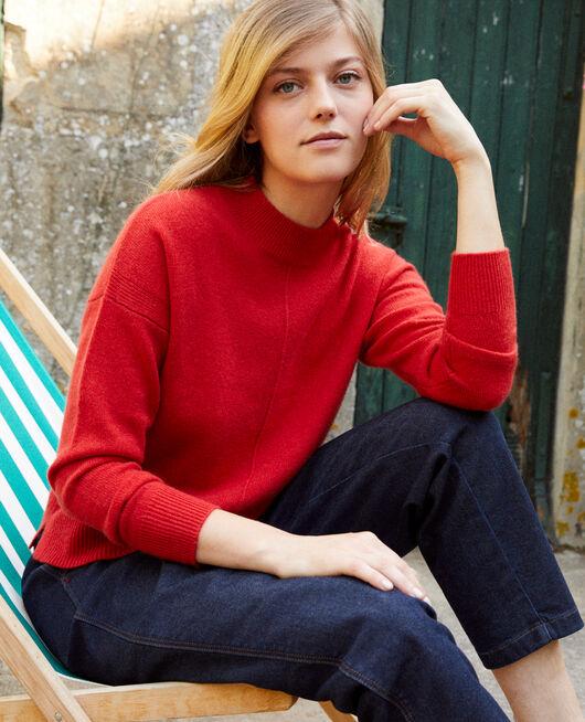 Pullover mit Knöpfen im Rücken 100 % Kaschmir MOLTEN LAVA