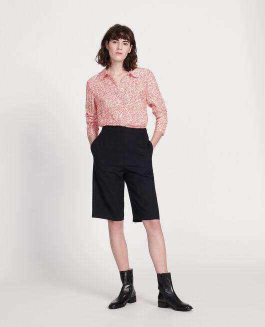 Bluse mit Aufdrucken FEUILLAGE BUTTERCREAM