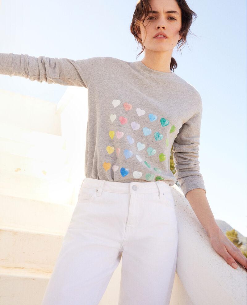 Sweatshirt mit Herz Heather grey Igamme
