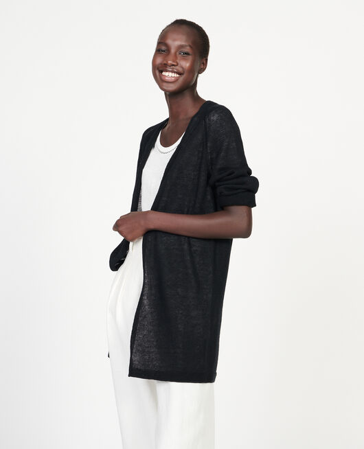 Cardigan aus Leinen BLACK BEAUTY
