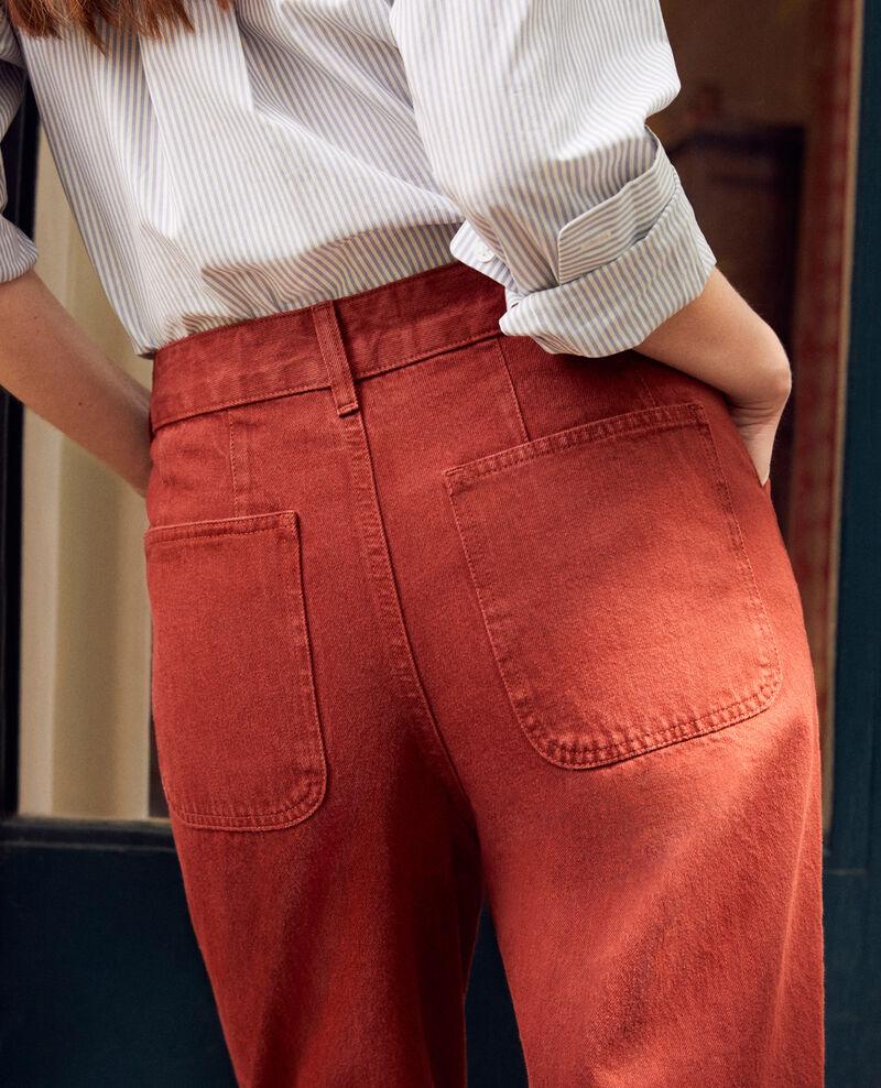 Jeans mit trendiger Passform Brandy brown Jantone