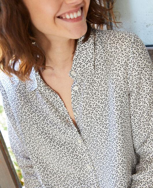Gerade geschnittene Bluse HONEY OFF WHITE
