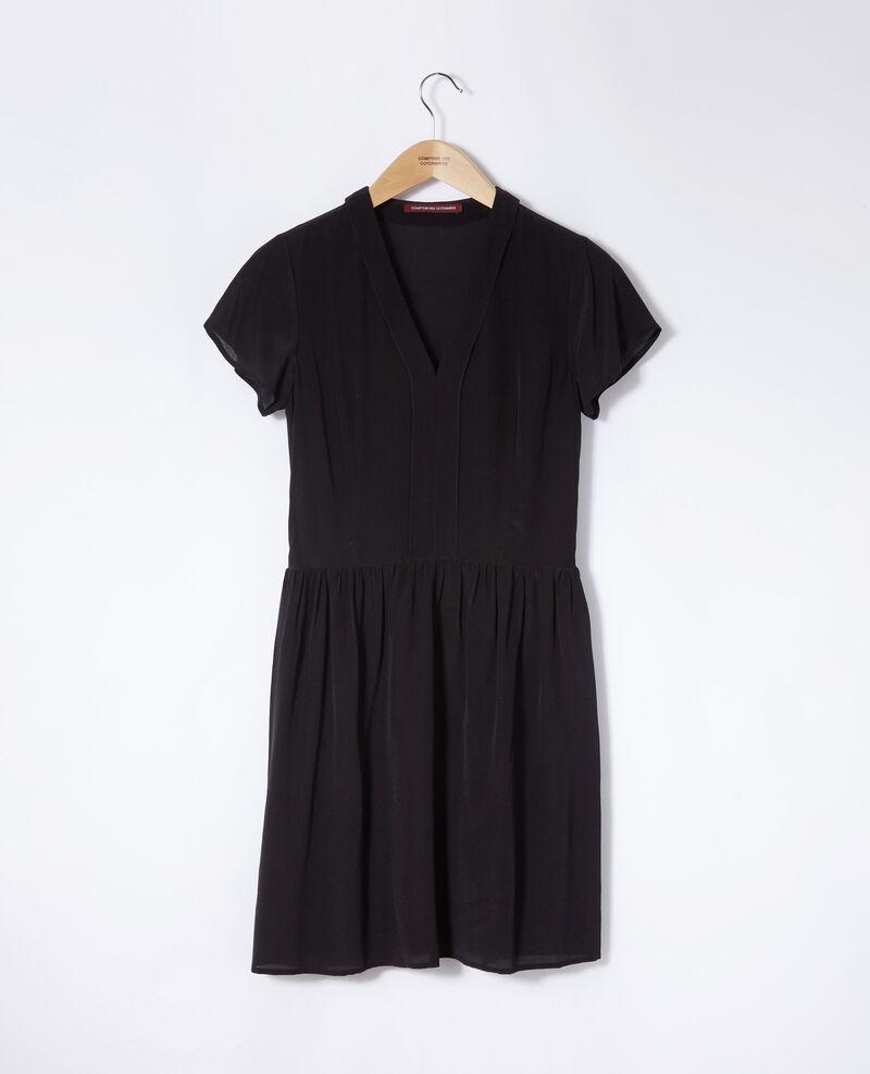 Kleid mit V-Ausschnitt Schwarz Ganael